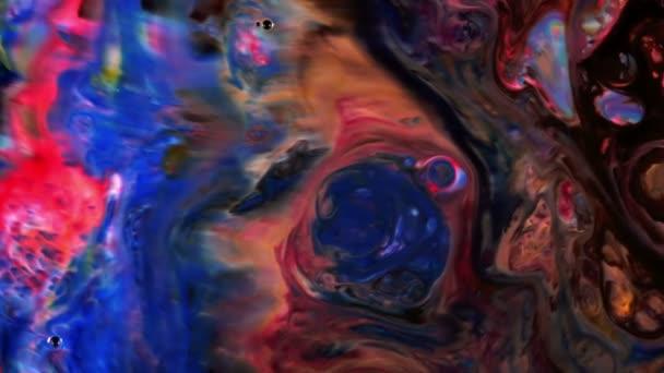 Abstraktní krásy umění inkoust barvy explodují barevné Fantasy šíření