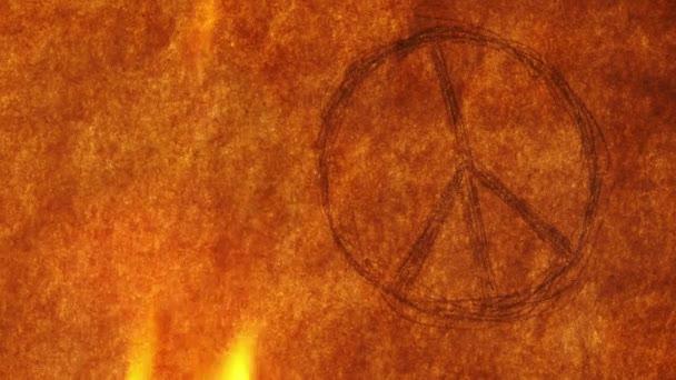 Symbol míru je hoření na starý papír