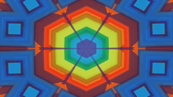 Abstract Symmetric Geometric Stars and Shapes Kaleidoscope