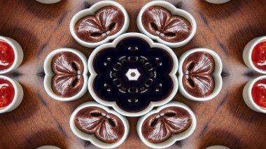 Abstract Breakfast Kaleidoscope
