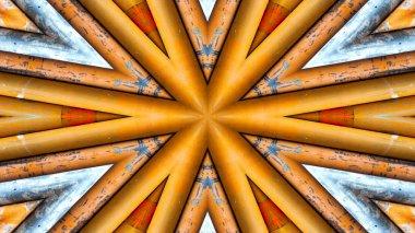 """Картина, постер, плакат, фотообои """"Аннотация, красочные гипнотические Симметричный узор декоративных декоративные Калейдоскоп движения геометрический круг и звезда формы"""", артикул 207634390"""