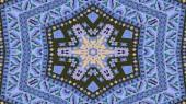 Reticolo simmetrico autentico etnico astratto caleidoscopio decorativo ornamentale movimento geometriche cerchio e forma a stella