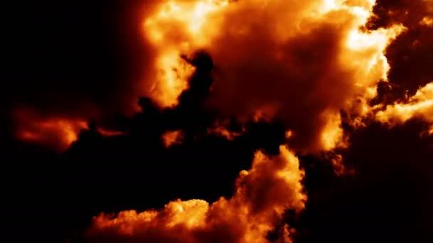Égő, mint a pokol Armageddon felhők, ég a tűz