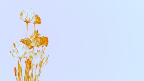 Solorized květy na bílém pozadí