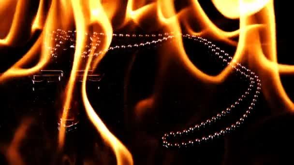 Christian vallás Symbol kereszt a pokolban Fire