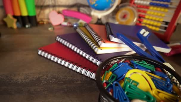 Colorful School Supplies and education
