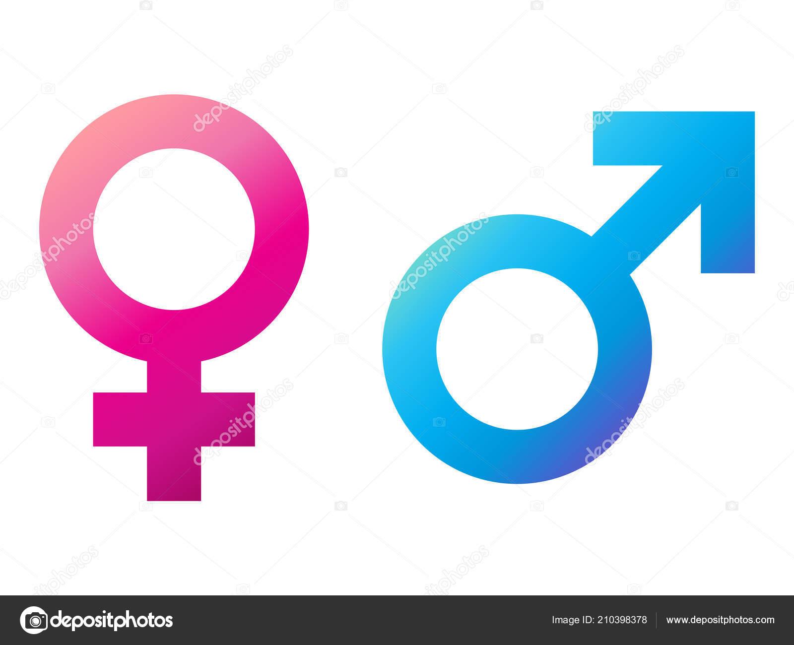 Vector Iconos De Signos De Hombre Y Mujer Sobre Fondo