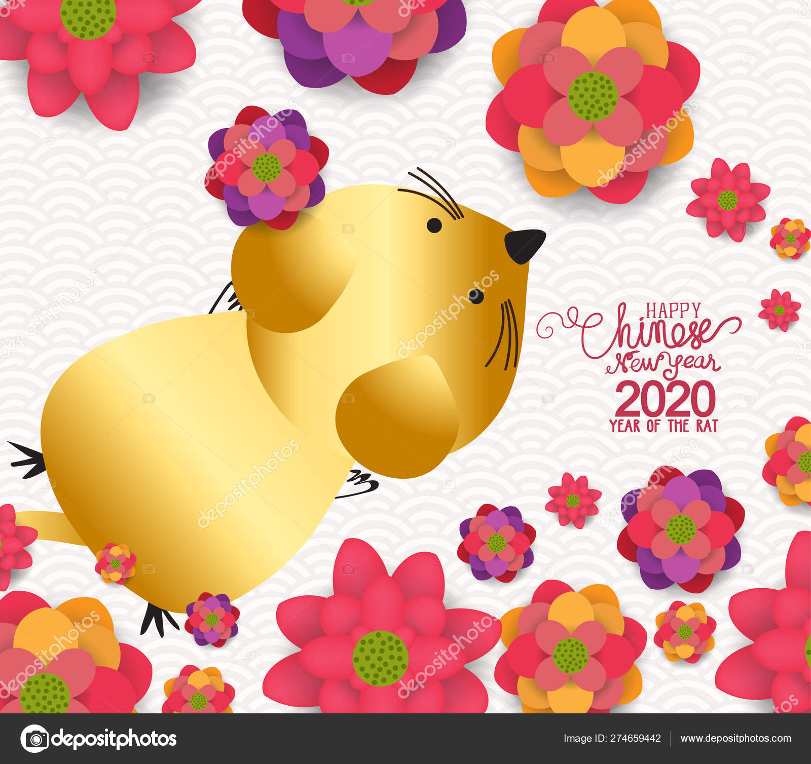 Happy New Year Rat 2020 Chinese New Year Greetings Year ...