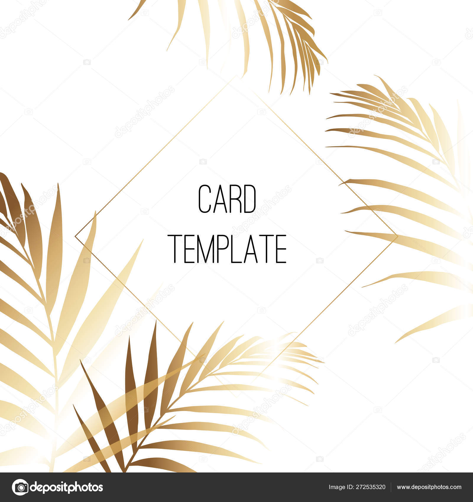 Tropical Palm Leaves Gold Invitation Stock Vector C 14jan092017 272535320 Artificial leaf tropical palm leaves simulation leaf for luau theme party decorations diy home garden decoration photo props tropical leaves on sale. tropical palm leaves gold invitation stock vector c 14jan092017 272535320