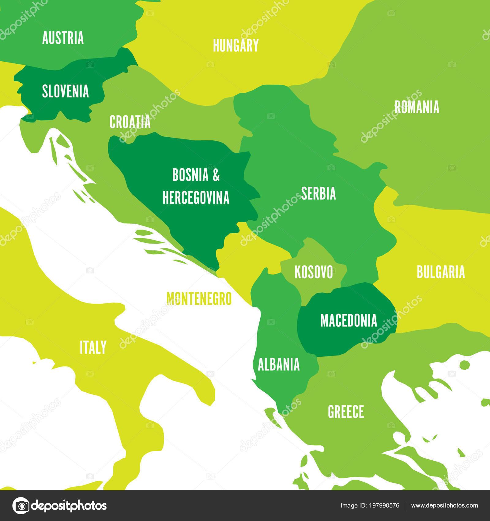 Politicka Mapa Balkanu Staty Balkanskeho Poloostrova Ctyri
