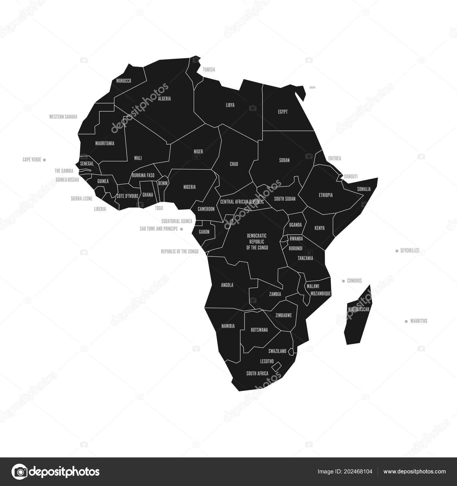 Cartina Dell Africa In Bianco E Nero.Mappa Schematica Semplificata Dell Africa Mappa Politica Vettoriale In Alto Contrasto Di Bianco E Nero Grafica Vettoriale C Pyty 202468104 Depositphotos
