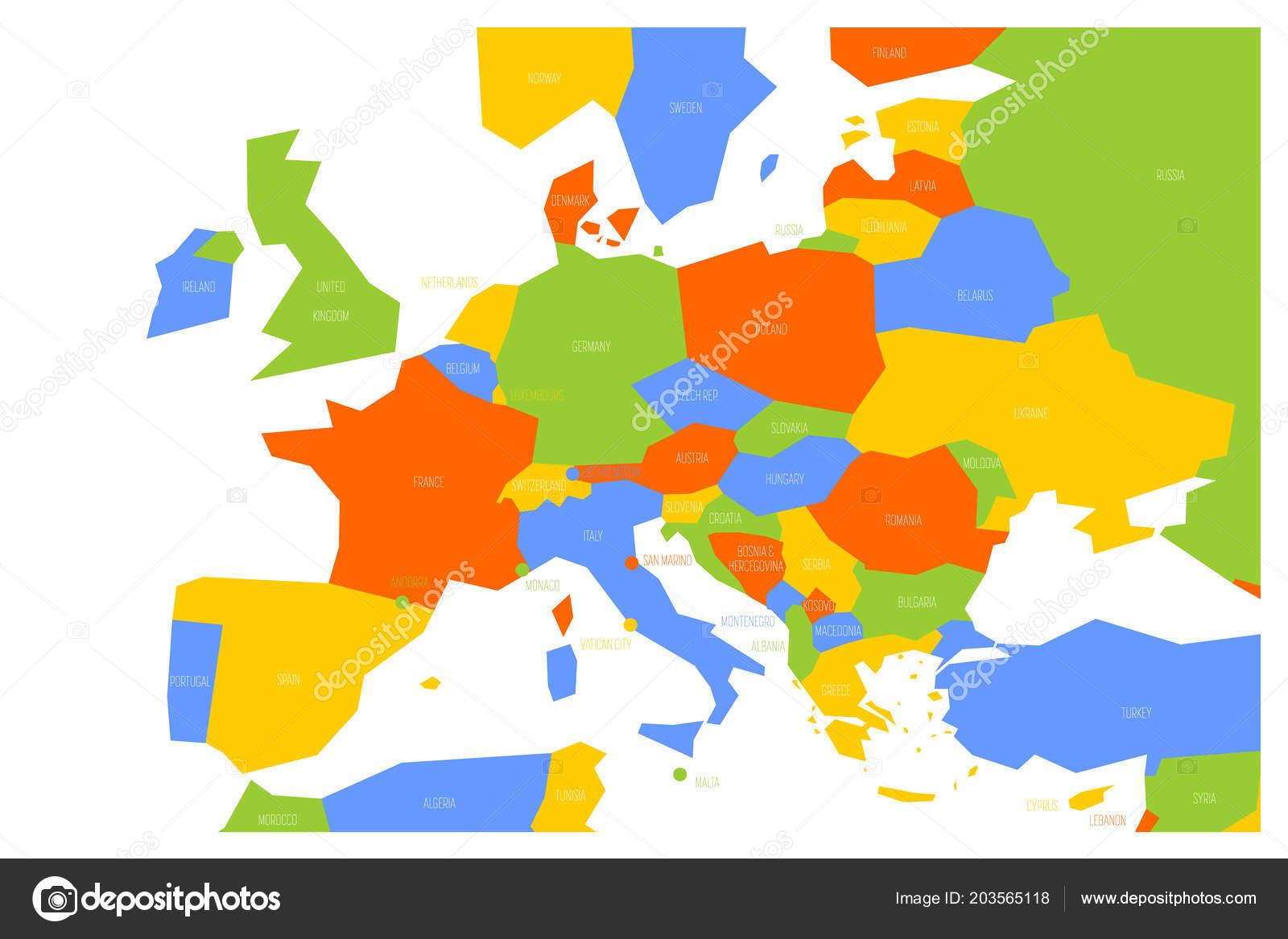 Europa Centrale Cartina Politica.Vettore Cartina Politica Europa Centrale Mappa Politica