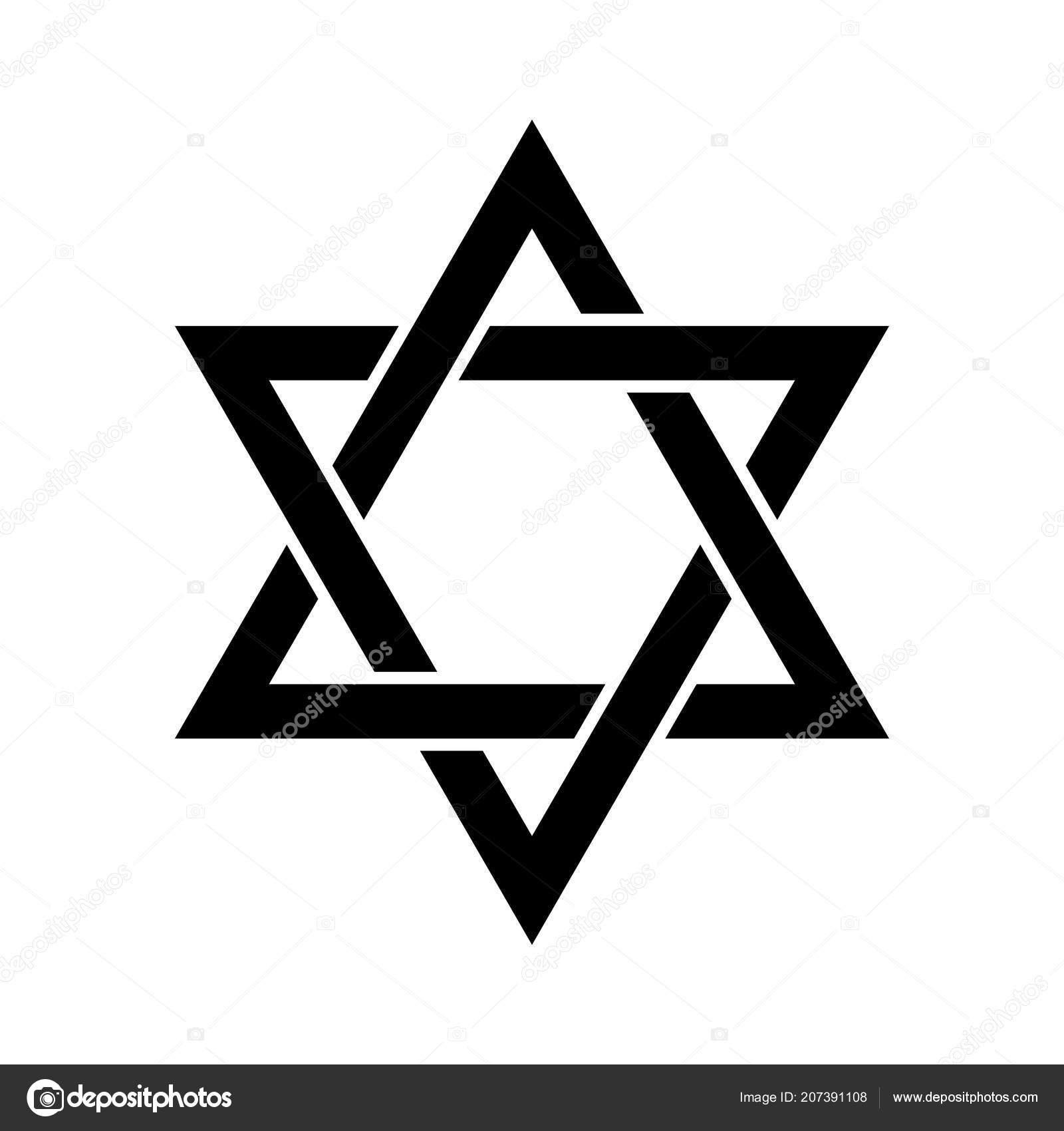 Star Of David Hexagram Sign Symbol Of Jewish Identity And Judaism