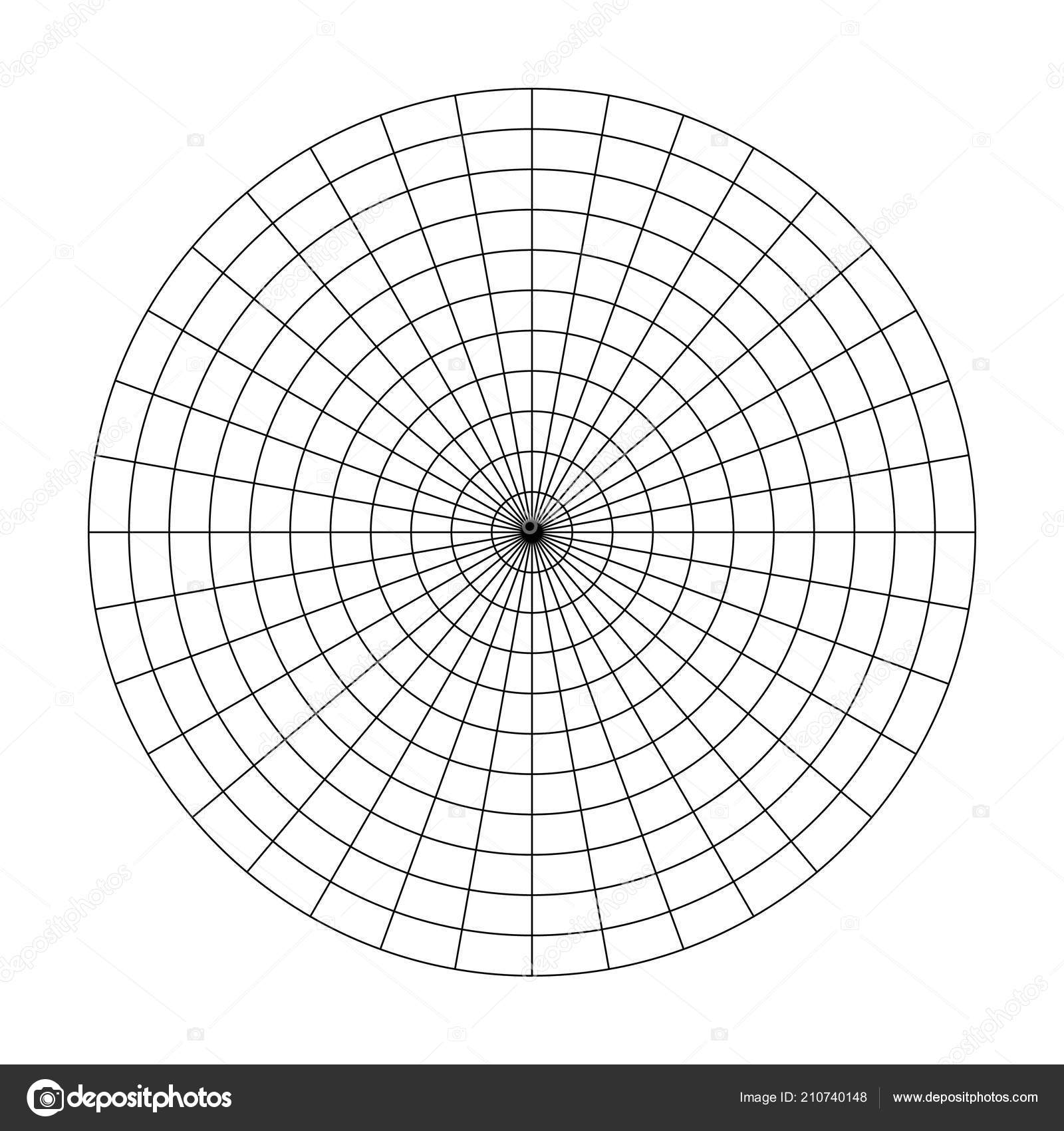 Polar grid of 10 concentric circles and 10 degrees steps blank polar grid of 10 concentric circles and 10 degrees steps blank vector polar graph paper ccuart Gallery