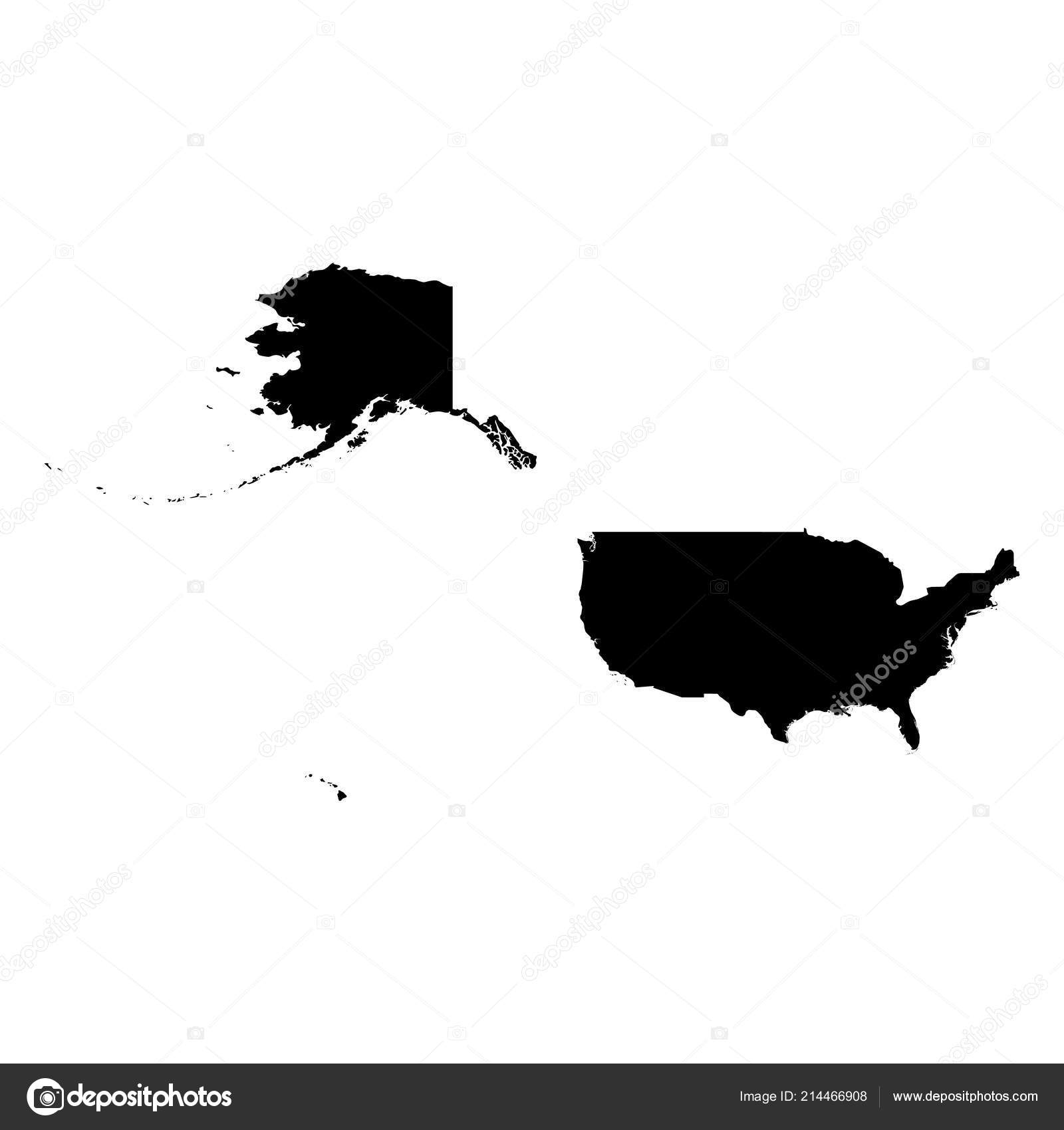 Us Map Silhouette United States Of America Usa Solid
