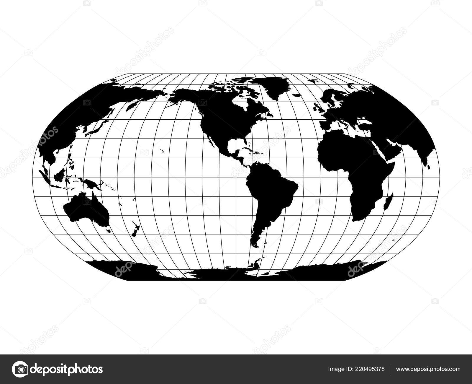 World Map in Robinson Projection with meridians and parallels grid on model of map, set of map, photography of map, drawing of map, map of map, animation of map, texture of map, element of map, depression of map, shape of map, scale of map, type of map, view of map, orientation of map,
