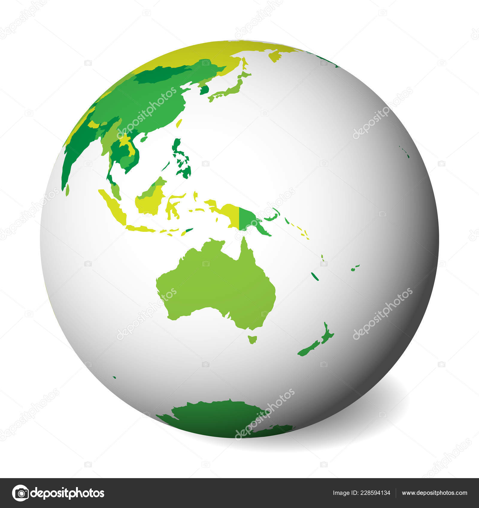 Map Of Australia Blank.Blank Political Map Of Australia 3d Earth Globe With Green Map