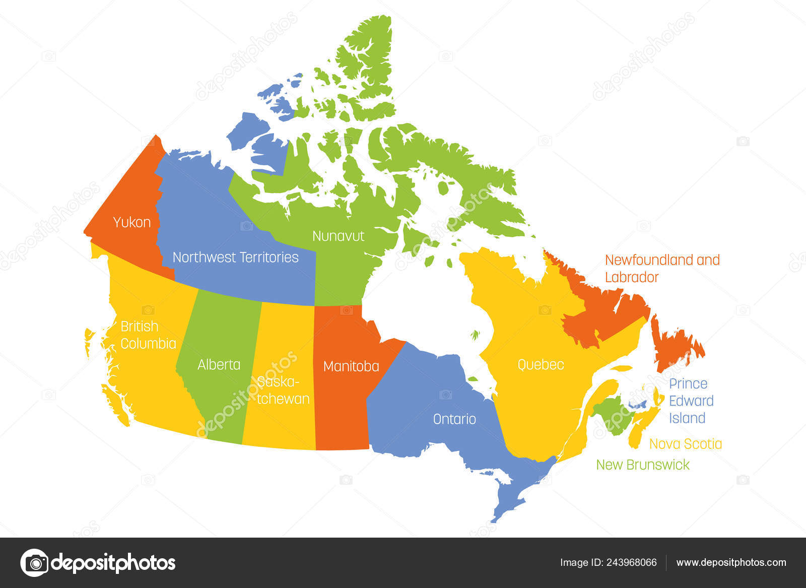 Map Of Canada With Labels Pictures : map of canada with labels | Map of Canada divided into