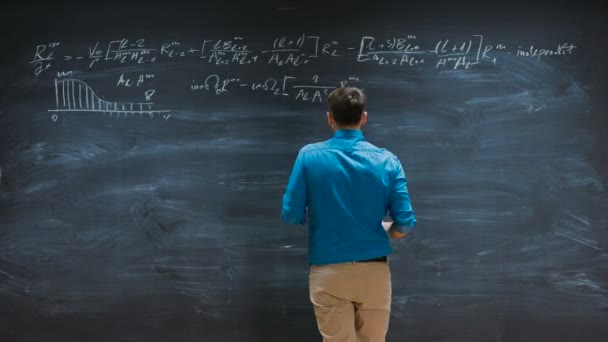 Time-Lapse of the Brilliant Young Mathematician Writes Complex Equation on the  Blackboard.