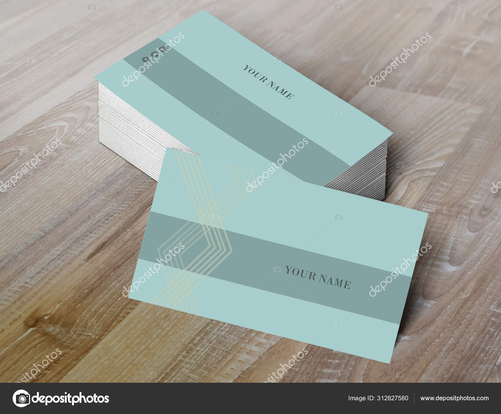 Business card template-stock image