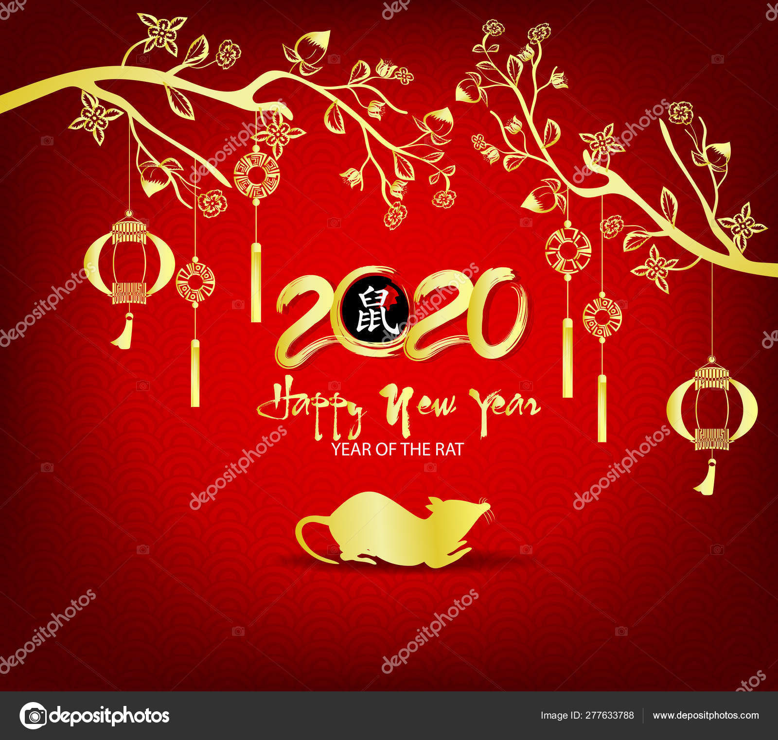 Merry Christmas In Chinese.Happy New Year 2020 Merry Christmas Happy Chinese New Year