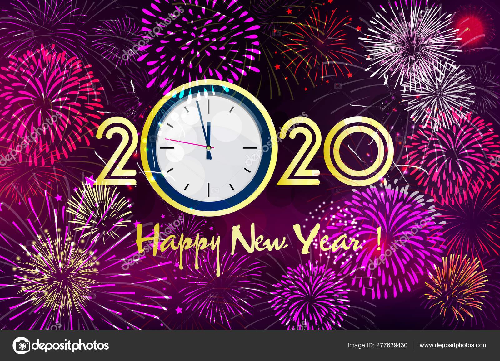 Ano Novo Feliz 2020 Feliz Natal Vetores De Stock
