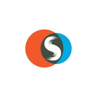 S letter logo vector design icon