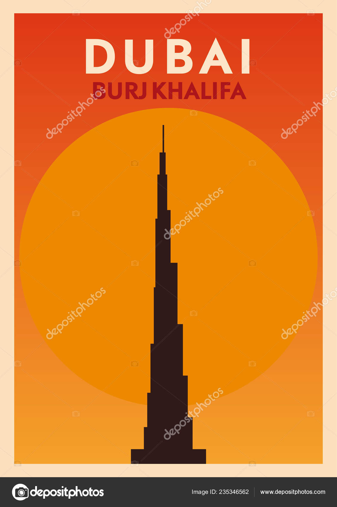 Landmark Design Dubai City Burj Khalifa Tower United Arab