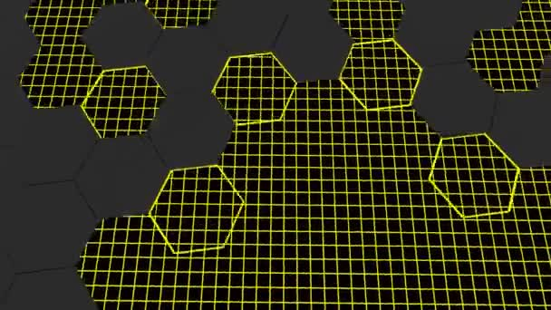 3D-Animation eines abstrakten modernen Hintergrundwabenmusters mit Checker-Texturen