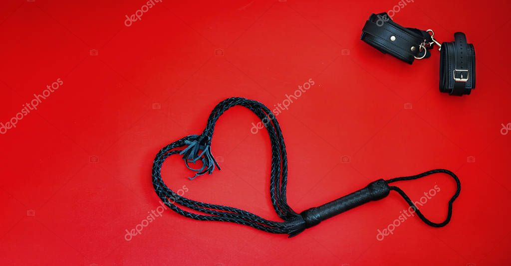 Leather Handcuffs, Image Photo