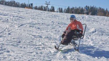 disabled person and mono ski