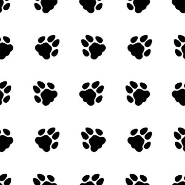 Animal footprint seamless pattern. Background. Abstract geometric shape texture. Design template for wallpapers, wrapping, textile. Vector Illustration stock vector