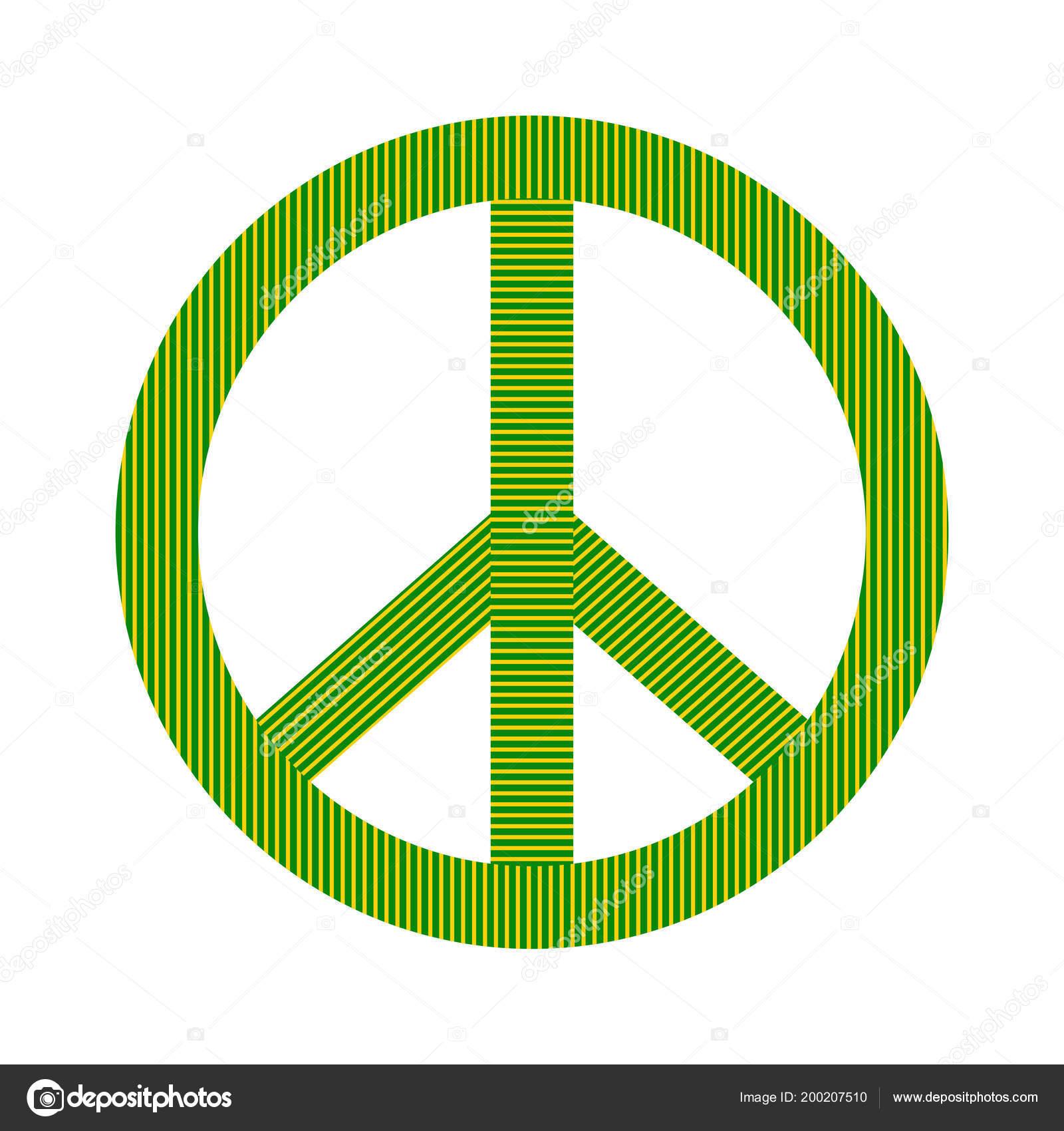 Isolated Colored Peace Symbol Stock Vector Jokalar01 200207510