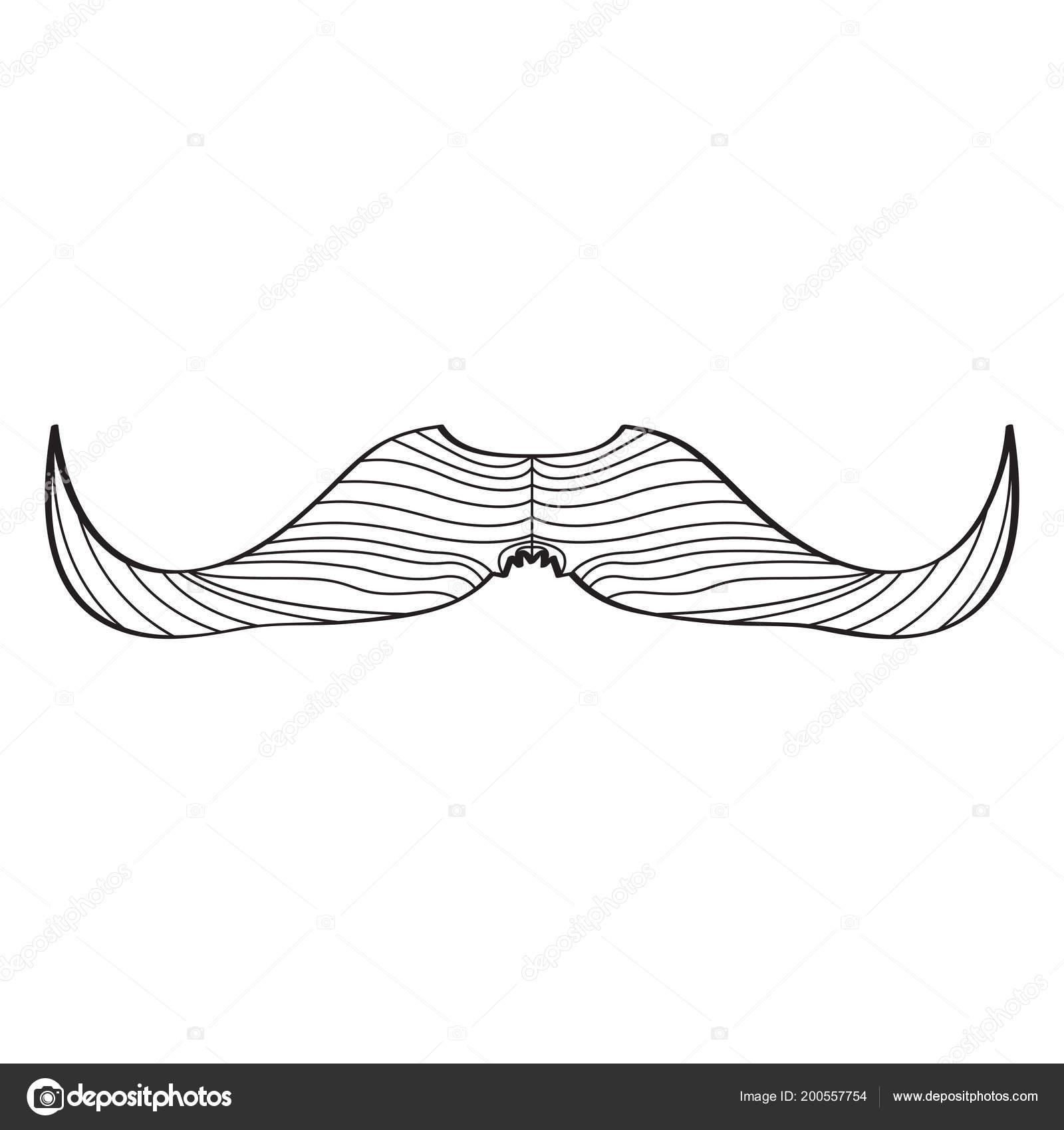 Sketch of a mustache — Stock Vector © JoKalar01 #200557754