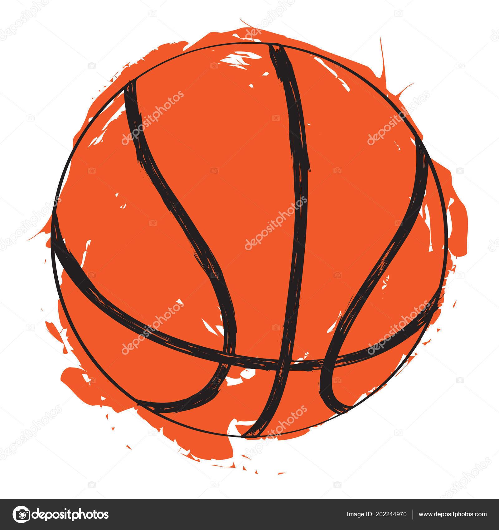 desenho de uma bola de basquete vetores de stock jokalar01