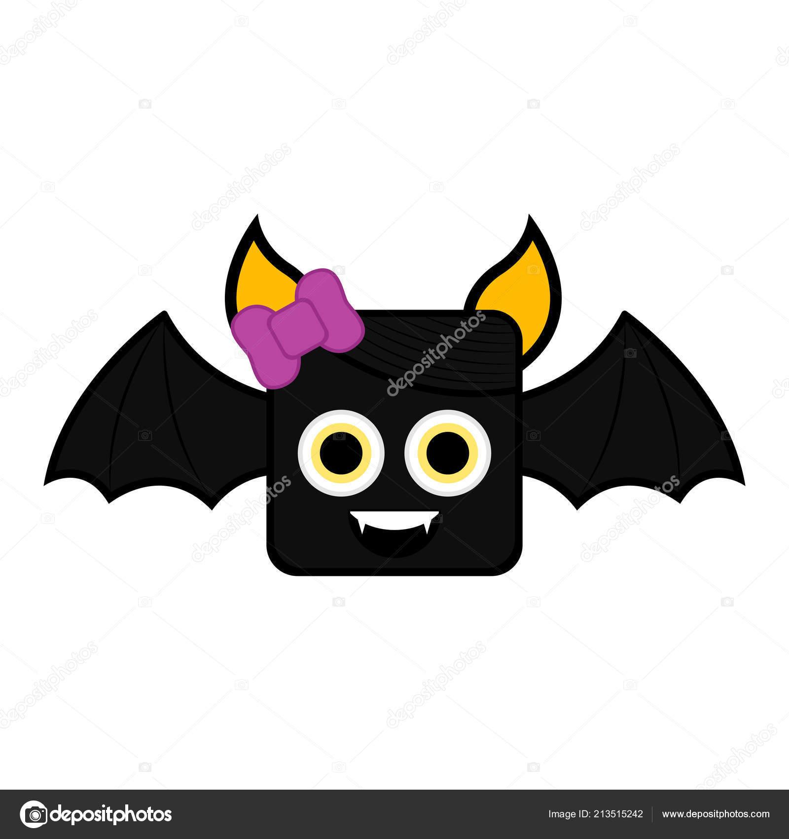 Cute Halloween Bat Cartoon Character Stock Vector C Jokalar01