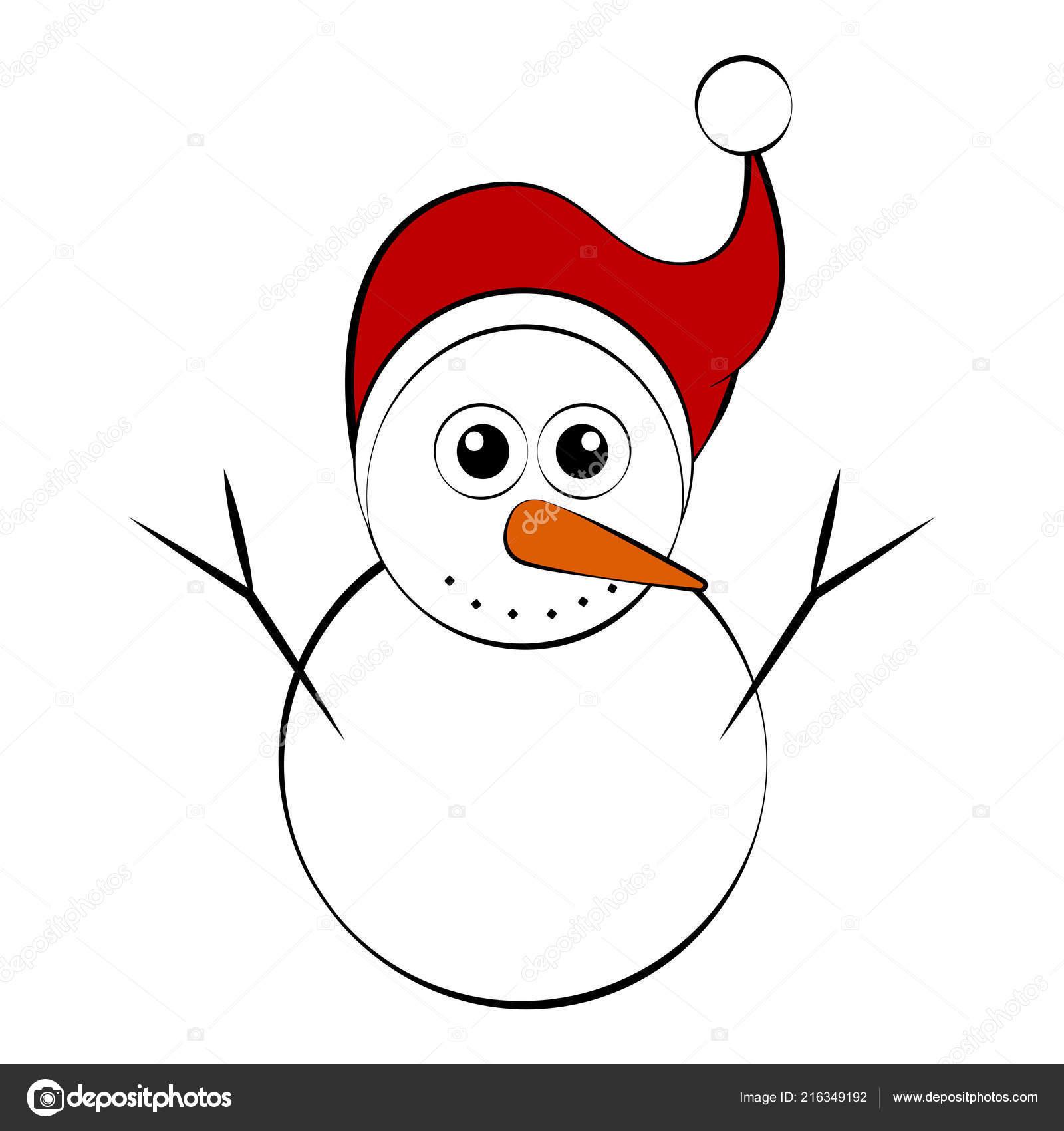 Personaje De Dibujos Animados De Navidad Muñeco De Nieve Vector De