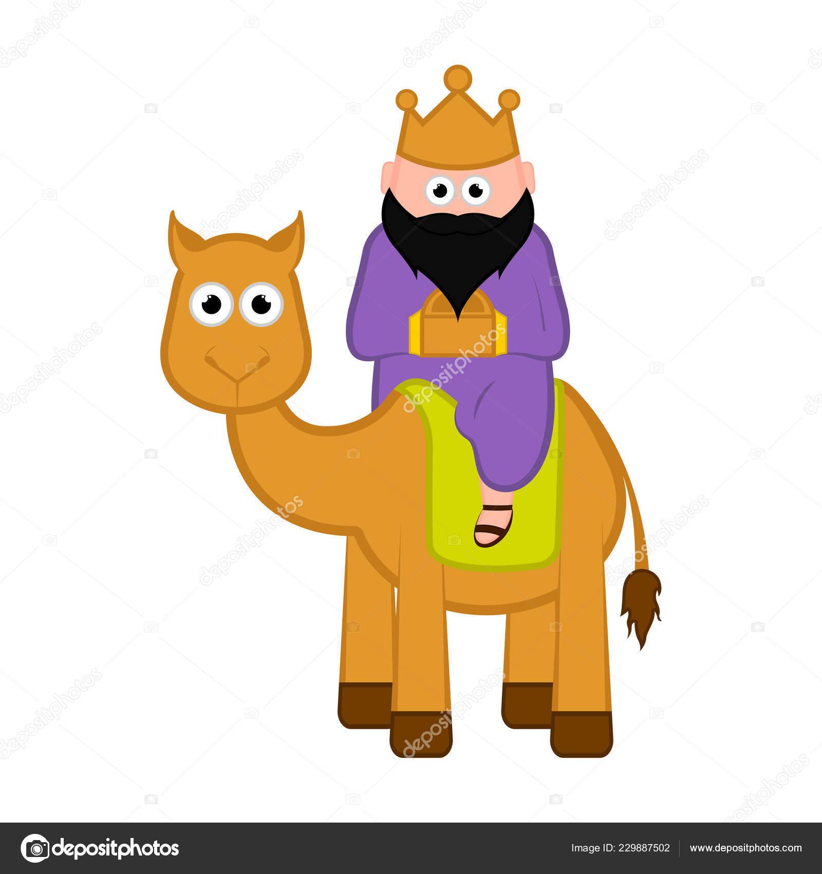 Uno De Los Tres Reyes Magos Personaje De Dibujos Animados Archivo