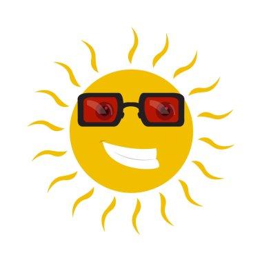 Isolated happy sun