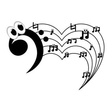 Isolated musical pentagram