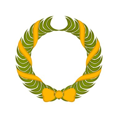Isolated colored laurel wreath icon - Vector