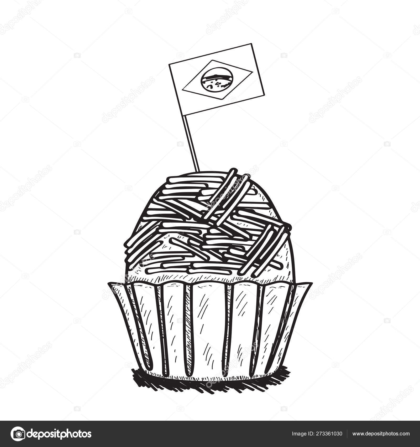 Isolated brigadeiro with a flag of Brazil — Stock Vector ...