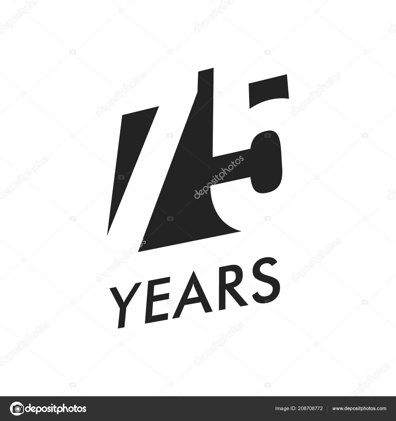 Seventy Five Years Vector Emblem Template Anniversary Symbol