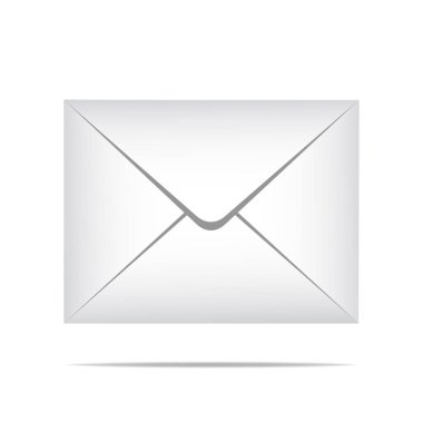 The postal white envelope. illustration is in a realistic style. Simply envelope on isolated background. Vector eps10