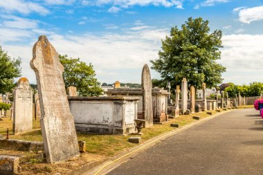 The Stone graves at the Candie Cemetery at St Peter Port, Guernsey.