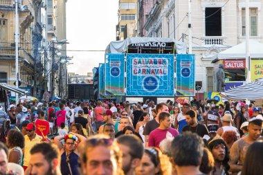 Carnival celebration at Pelourinho in Salvador Bahia, Brazil.
