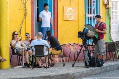 The Solar bar at Getsemani district, Cartagena, Colombia.