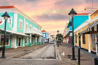 Commercial center at the waterfront of Kralendijk, Bonaire