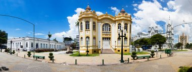 Panorama of the Historical Museum Casa de Cultura, Santa Catarina, Brazil.