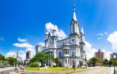 Itajai, Santa Catarina, Brazil - February 22th, 2018: The Matriz Church Igreja do Santissimo Sacramento in Itajai, Santa Catarina, Brazil.